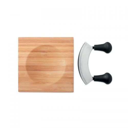 Juego cortador de quesos fabricado bambú