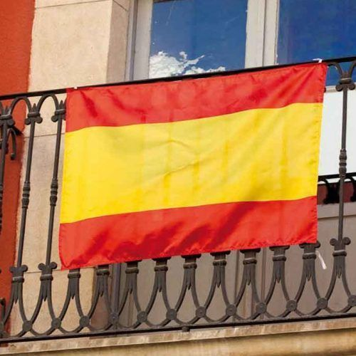 Bandera España con tu logo