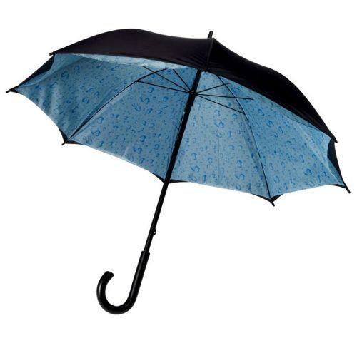 Paraguas publicitario con nubes