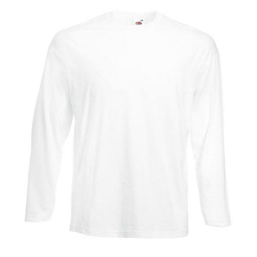Camiseta manga larga personalizable blanca