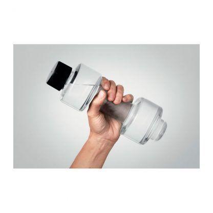 Botella en forma de pesa
