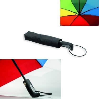 Paraguas plegable multicolor