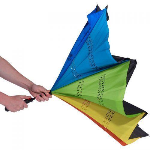 Paraguas reversible arcoiris