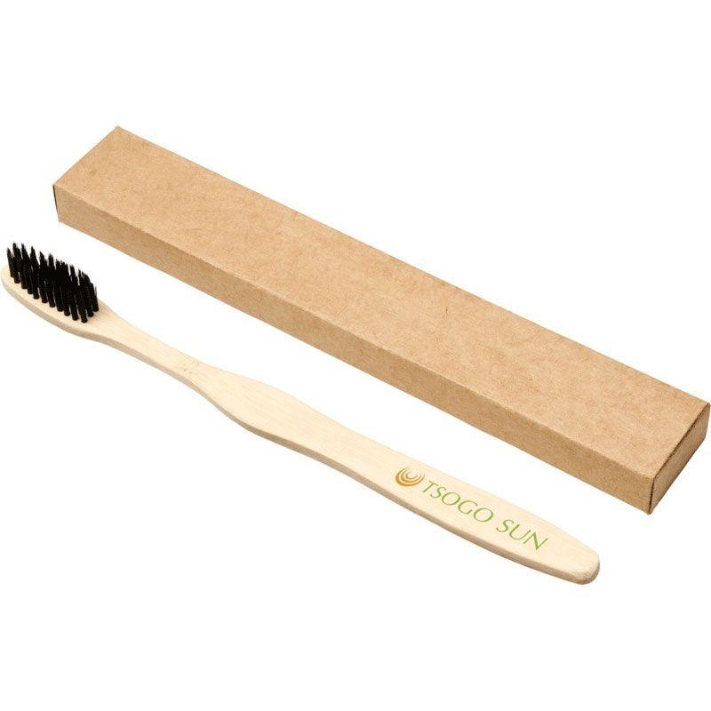 Cepillo de dientes de bambú.