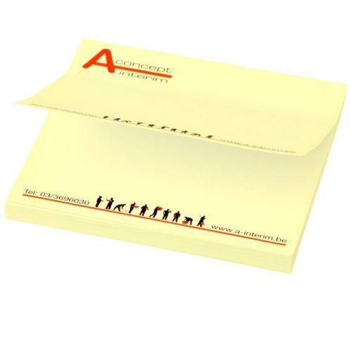 Notas rectangulares adhesivas con tu logo