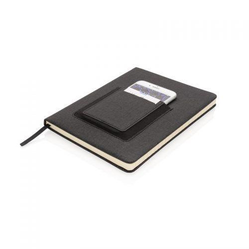 Libreta Personalizada A5 Deluxe con bolsillo para teléfono