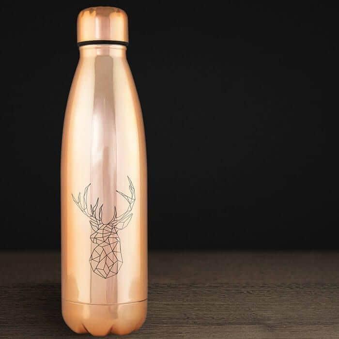 Botella merchandising brillante