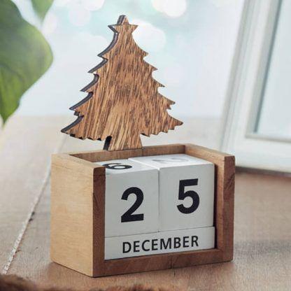 Calendario navideño personalizable