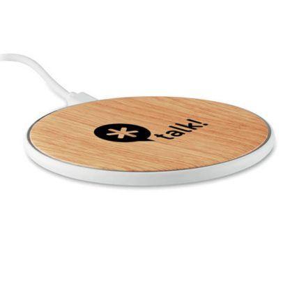 Cargador bambú personalizable