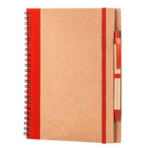 Cuaderno reciclado con boli