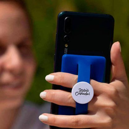 Tarjetero con soporte para móvil