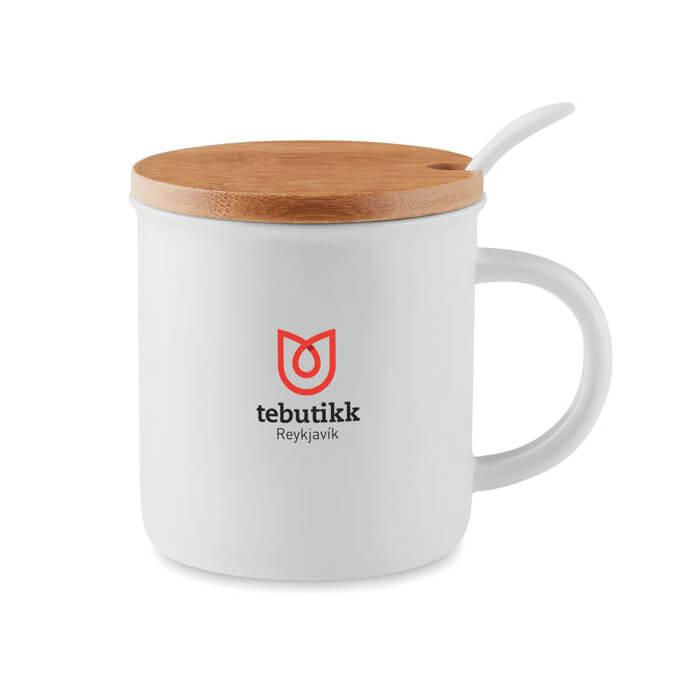 Taza con tapa merchandising