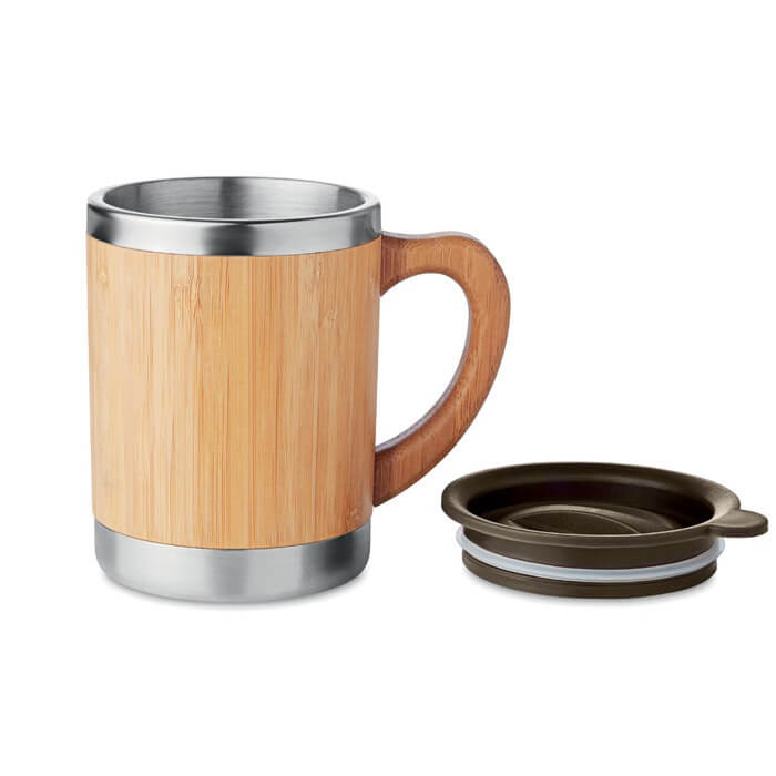 Vaso bambú con tu logo