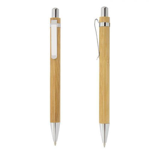 Boligrafo bambú con logo