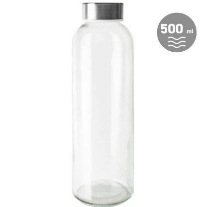 Botella de Vidrio con Tapón Metálico