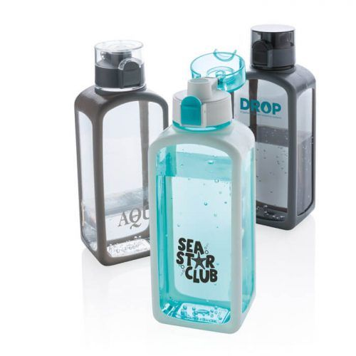 Botella merchandising geométrica