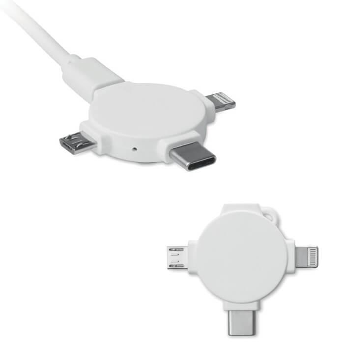 Adaptador con cable 3 en 1