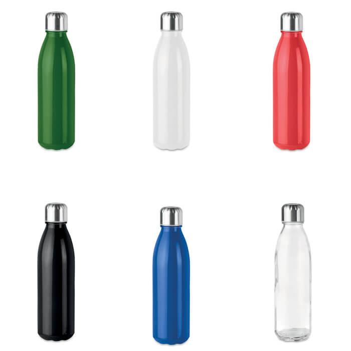 Botella de cristal merchandising
