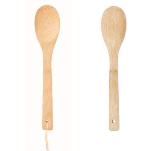 Cuchara bambú personalizable