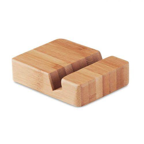 Soporte para teléfono de bambú
