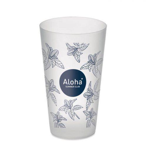 Vaso de plástico reutilizable