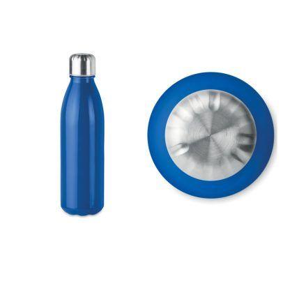 Botella de Cristal con Tapón de Acero Inoxidable
