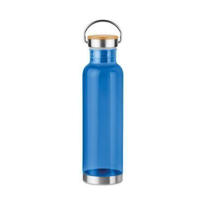 Botella Personalizada con tapa de bambú