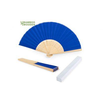 Abanico varillas de bambu con tu logo