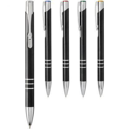 Bolígrafo de aluminio con mecanismo de presión para grabar a láser