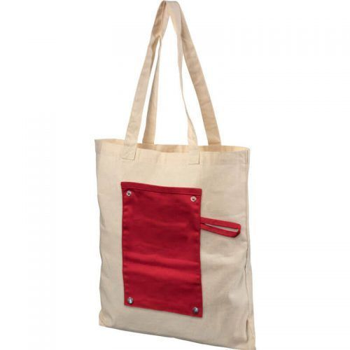 Bolsa Tote de algodón de 180 gr m2 enrollable con botones