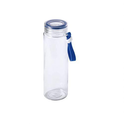 Botella de cristal con detalles de colores