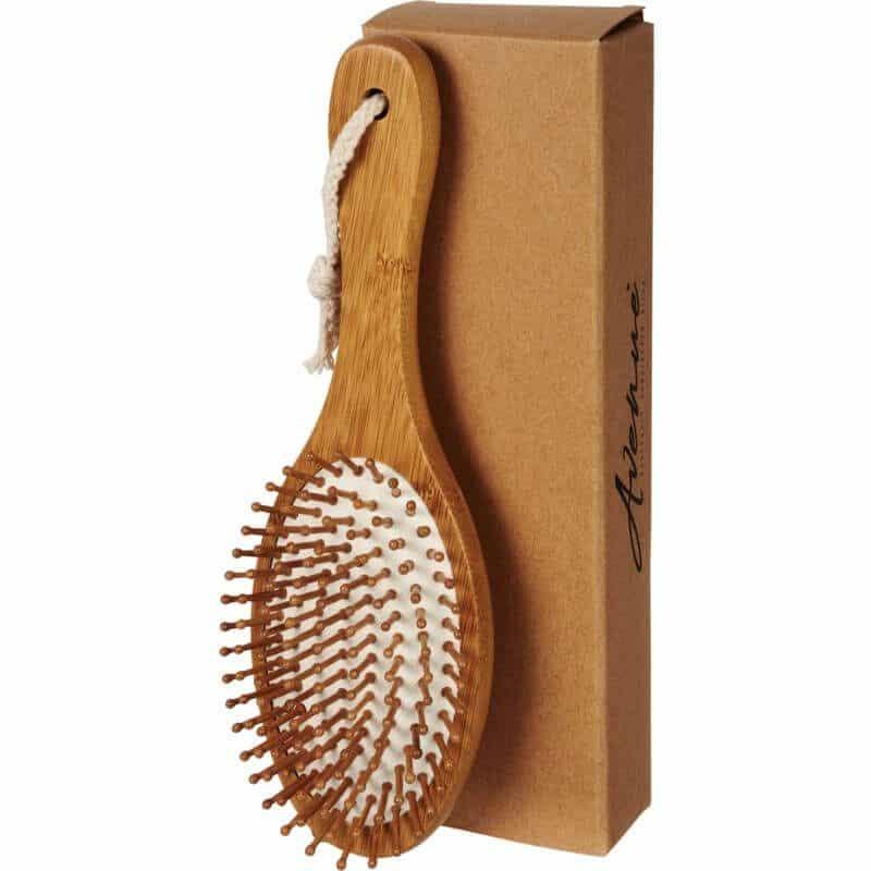 Cepillo de pelo masajeador de bambú