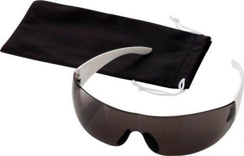Gafas de sol con patillas y puntas laterales en color de contraste.