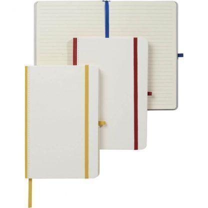 Libreta A5 con lomo de color para impresión digital
