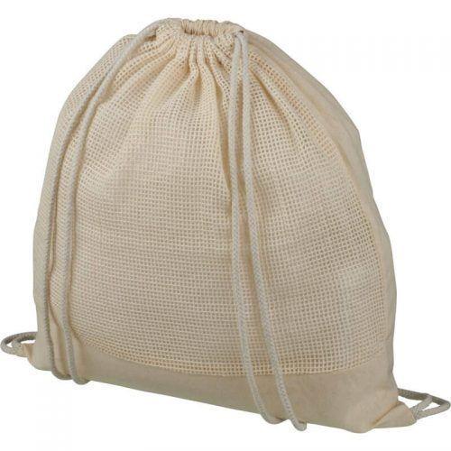 Mochila de cuerdas de algodón de malla