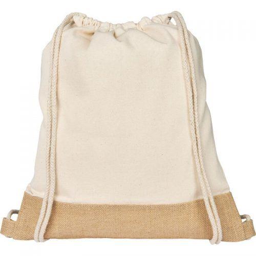 Mochila sostenible de cuerdas de yute de algodón
