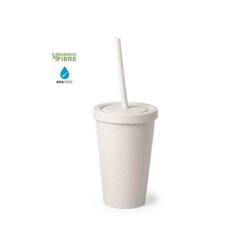 Vaso de bambu reutilizable