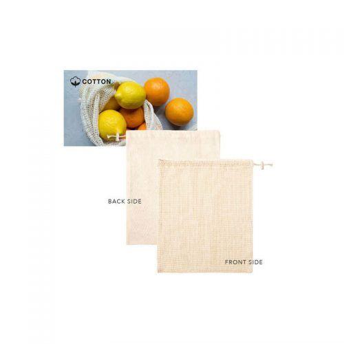 Bolsa de redecilla en algodón crudo de 120g/m2