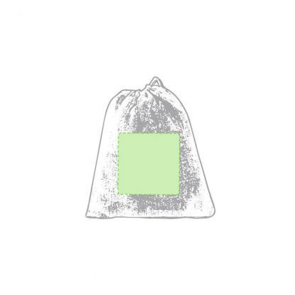 Bolsa plegable de redecilla en algodón crudo