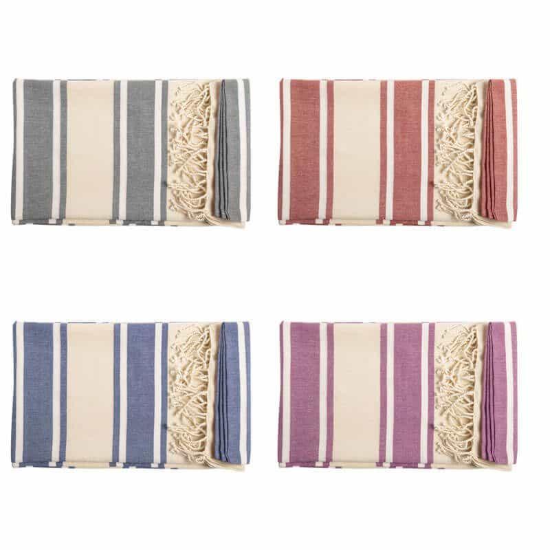 Pareo toalla 2 en 1 en algodón orgánico de 110g m2