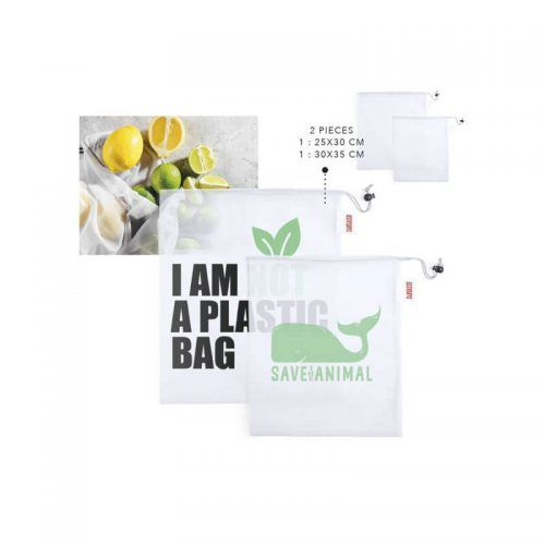 Set de dos bolsas de redecilla en poliéster