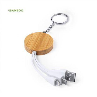 Cargador Llavero Bambú