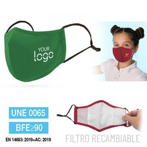 Mascarilla con Filtro Reutilizable y Colgador