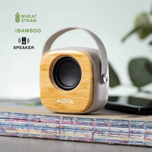Altavoz Personalizado Bambú