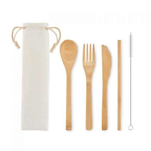 Set Cubiertos Bambú