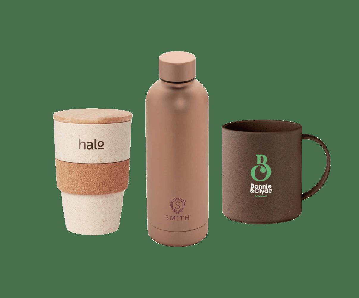 Botellas, Tazas y Vasos Ecológicos