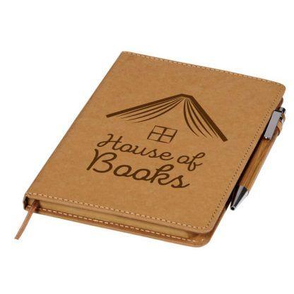 Set de Bolígrafo y Libreta Reciclables