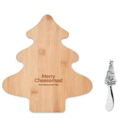 Set de Queso y Cuchillo Navidad
